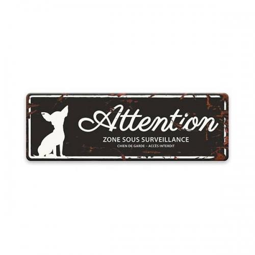 """Plaque originale """"attention au chien"""""""